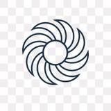 Διανυσματικό εικονίδιο Pinwheel που απομονώνεται στο διαφανές υπόβαθρο, γραμμικό διανυσματική απεικόνιση