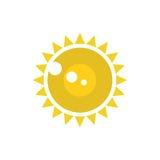 Διανυσματικό εικονίδιο ήλιων Στοκ εικόνα με δικαίωμα ελεύθερης χρήσης
