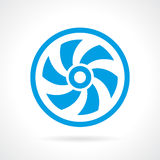 Διανυσματικό εικονίδιο βιδών εξαεριστήρων Στοκ Εικόνα