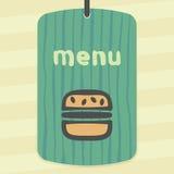 Διανυσματικό εικονίδιο γρήγορου φαγητού χάμπουργκερ περιλήψεων Σύγχρονα infographic λογότυπο και εικονόγραμμα Στοκ Εικόνα