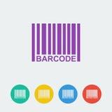 Διανυσματικό εικονίδιο κύκλων barcpde επίπεδο Στοκ Εικόνες