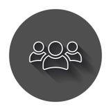 Διανυσματικό εικονίδιο ομάδας ανθρώπων στο ύφος γραμμών Illustra εικονιδίων προσώπων Στοκ Εικόνα