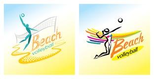 Διανυσματικό εικονίδιο πετοσφαίρισης παραλιών Στοκ Εικόνες