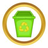 Διανυσματικό εικονίδιο σκουπιδοτενεκών Eco Στοκ Εικόνες