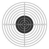 Διανυσματικό εικονίδιο στόχων πυροβολισμού Στοκ Φωτογραφίες