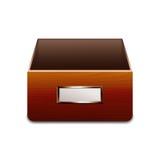 Διανυσματικό εικονίδιο του διαχειρηστή αρχείων για τα έγγραφα ελεύθερη απεικόνιση δικαιώματος