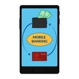 Διανυσματικό εικονίδιο των κινητών τραπεζικών εργασιών Στοκ φωτογραφία με δικαίωμα ελεύθερης χρήσης