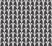Διανυσματικό εκλεκτής ποιότητας άνευ ραφής σχέδιο του Art Deco Κυματιστή σύσταση με τους κύκλους Αναδρομικό μοντέρνο υπόβαθρο Διανυσματική απεικόνιση