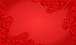 Διανυσματικό εκλεκτής ποιότητας κενό κόκκινο υπόβαθρο καλλιγραφίας Στοκ φωτογραφία με δικαίωμα ελεύθερης χρήσης
