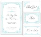Διανυσματικό εκλεκτής ποιότητας σύνολο γαμήλιων πλαισίων Στοκ εικόνες με δικαίωμα ελεύθερης χρήσης
