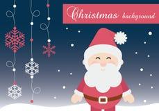 Διανυσματικό εκτυπώσιμο υπόβαθρο Άγιου Βασίλη Χριστουγέννων απεικόνιση αποθεμάτων