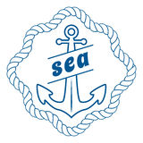 Διανυσματικό εκλεκτής ποιότητας ναυτικό στοιχείο ετικετών, εικονιδίων και σχεδίου Στοκ Εικόνες