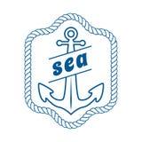 Διανυσματικό εκλεκτής ποιότητας ναυτικό στοιχείο ετικετών, εικονιδίων και σχεδίου Στοκ φωτογραφία με δικαίωμα ελεύθερης χρήσης