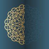 Διανυσματικό εκλεκτής ποιότητας πλαίσιο σημαδιών Mandala διακοσμητικός τρύγος στ&o Ασιατικό πρότυπο Στοκ Εικόνες