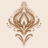 Διανυσματικό εκλεκτής ποιότητας damask στοιχείο Διανυσματική απεικόνιση