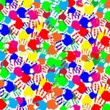 Διανυσματικό εορταστικό τετραγωνικό πρότυπο δακτυλικών αποτυπωμάτων διανυσματική απεικόνιση