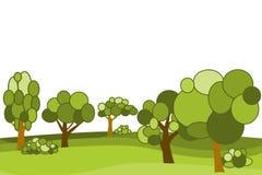 Διανυσματικό επίπεδο δάσος Στοκ εικόνα με δικαίωμα ελεύθερης χρήσης