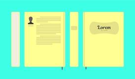 Διανυσματικό επίπεδο ζωηρόχρωμο σχεδιάγραμμα βιβλίων στοκ φωτογραφίες με δικαίωμα ελεύθερης χρήσης