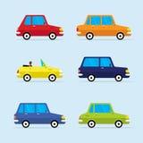 Διανυσματικό επίπεδο σύνολο εικονιδίων σύγχρονων οχημάτων Στοκ φωτογραφία με δικαίωμα ελεύθερης χρήσης