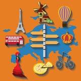 Διανυσματικό επίπεδο ταξίδι της Ευρώπης Στοκ φωτογραφία με δικαίωμα ελεύθερης χρήσης