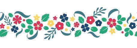 Διανυσματικό επίπεδο υπόβαθρο λουλουδιών και μούρων, δημιουργικό σχέδιο χρώματος Στοκ Εικόνες