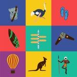 Διανυσματικό επίπεδο χρώμα της Αυστραλίας Στοκ εικόνα με δικαίωμα ελεύθερης χρήσης