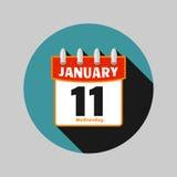 Διανυσματικό επίπεδο ύφος σχεδίου ημερολογιακών εικονιδίων Στοκ φωτογραφία με δικαίωμα ελεύθερης χρήσης