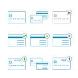 Διανυσματικό λεπτό εικονίδιο πιστωτικών καρτών Στοκ φωτογραφία με δικαίωμα ελεύθερης χρήσης
