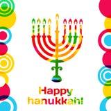 Διανυσματικό ευτυχές σχέδιο ευχετήριων καρτών Hanukkah διανυσματική απεικόνιση