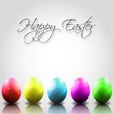 Διανυσματικό ευτυχές υπόβαθρο Πάσχας με τα ζωηρόχρωμα αυγά στοκ εικόνες με δικαίωμα ελεύθερης χρήσης