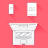 Διανυσματικό ελάχιστο μάρκετινγκ ηλεκτρονικού ταχυδρομείου σχεδίου Στοκ φωτογραφία με δικαίωμα ελεύθερης χρήσης