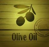 Διανυσματικό ελαιόλαδο Διακοσμητικό κλαδί ελιάς ξέν. ελεύθερη απεικόνιση δικαιώματος