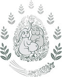 Bunnies Πάσχας Στοκ Εικόνες