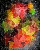 Διανυσματικό ζωηρόχρωμο υπόβαθρο των τριγώνων Στοκ Φωτογραφίες