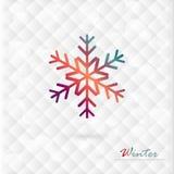 Διανυσματικό ζωηρόχρωμο snowflake στο χειμερινό υπόβαθρο των διαμαντιών. Στοκ Εικόνες