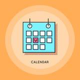Διανυσματικό ημερολογιακό εικονίδιο Στοκ φωτογραφία με δικαίωμα ελεύθερης χρήσης