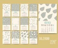 Διανυσματικό ημερολόγιο για το 2017 Στοκ φωτογραφία με δικαίωμα ελεύθερης χρήσης
