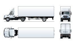 Διανυσματικό ημι πρότυπο φορτηγών που απομονώνεται στο λευκό Στοκ Φωτογραφίες