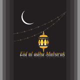 Διανυσματικό θρησκευτικό υπόβαθρο του Mubarak adha Eid ul Στοκ Φωτογραφίες