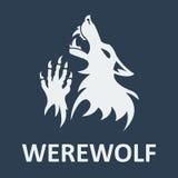 Διανυσματικό διάτρητο werewolf Σκοτεινό χρώμα Στοκ εικόνες με δικαίωμα ελεύθερης χρήσης