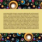Διανυσματικό διακοσμητικό υπόβαθρο με τους χρωματισμένους κύκλους Στοκ Φωτογραφίες