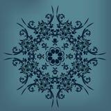 Διανυσματικό διακοσμητικό floral στοιχείο Στοκ Φωτογραφίες