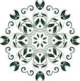 Διανυσματικό διακοσμητικό floral στοιχείο Στοκ εικόνες με δικαίωμα ελεύθερης χρήσης