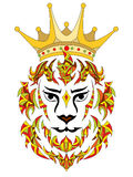 Διανυσματικό διαμορφωμένο απεικόνιση λιοντάρι Στοκ φωτογραφία με δικαίωμα ελεύθερης χρήσης
