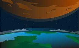 Διανυσματικό διαστημικό τοπίο Στοκ φωτογραφία με δικαίωμα ελεύθερης χρήσης