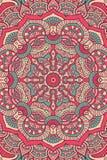 Διανυσματικό ινδικό υπόβαθρο Mandala Στοκ Εικόνα