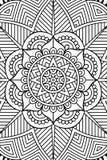 Διανυσματικό ινδικό υπόβαθρο Mandala Στοκ Φωτογραφίες