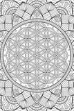 Διανυσματικό ινδικό υπόβαθρο Mandala Στοκ Φωτογραφία