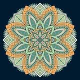 Διανυσματικό ινδικό Mandala Στοκ Φωτογραφία