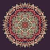 Διανυσματικό ινδικό Mandala Στοκ φωτογραφίες με δικαίωμα ελεύθερης χρήσης
